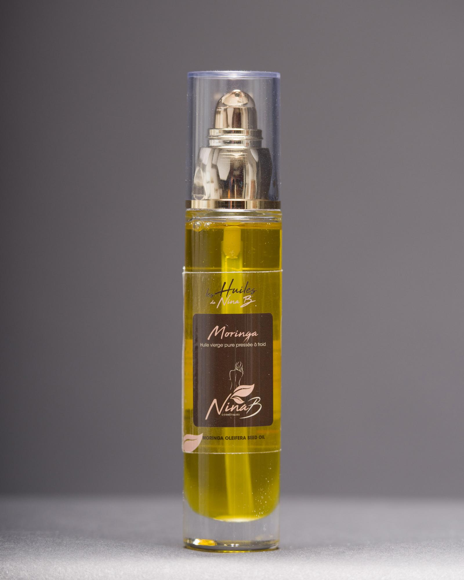 Virgin Moringa Oil Organic - Natural, organic cosmetic product, certified ECOCERT COSMOS ORGANIC